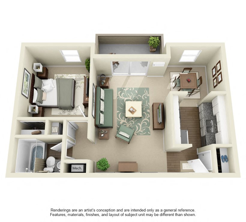 Alexandra- 725 sq ft Floor Plan 8