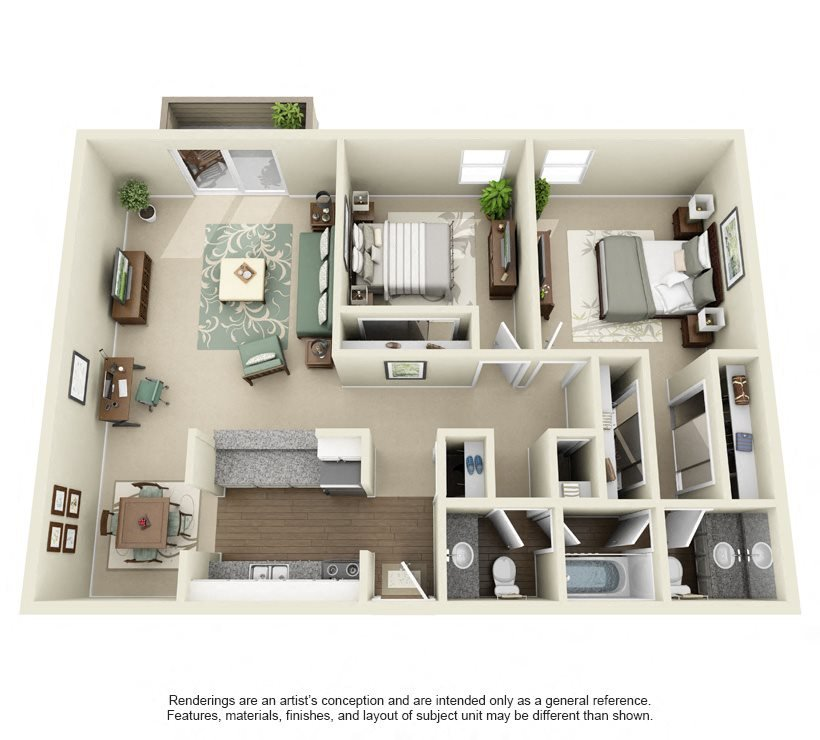 Seco- 890 sq ft Floor Plan 11