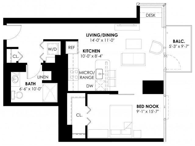 Convertible Plan B+ Floor Plan 4