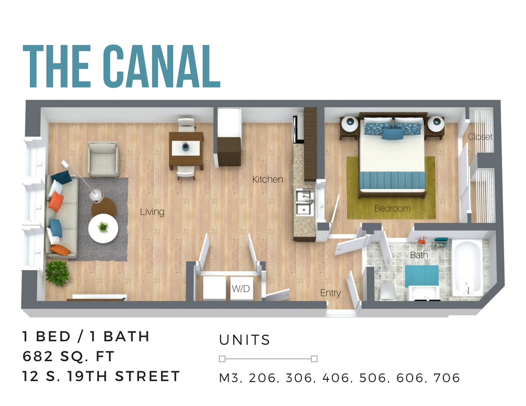 The Canal (Overview-City Side) Floor Plan 1