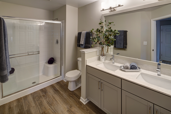 Walk-In Oversized Shower at River Run at Naperville, 1015 Preserve Ave, Illinois