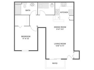 Maple Floorplan at River Run at Naperville, 60564