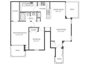Holly Floorplan at River Run at Naperville, 60564