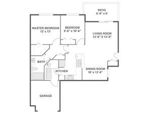 Laurel Floorplan at River Run at Naperville, 60564
