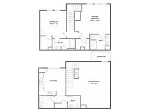 Cypress Floorplan at River Run at Naperville, 60564