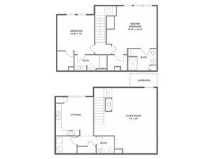 Cypress Floorplan at River Run at Naperville, 60564