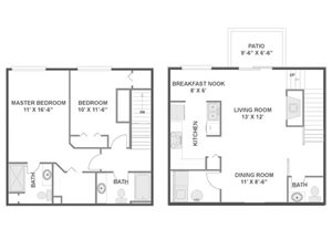 Spruce Floorplan at River Run at Naperville, 60564