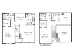 Elm Floorplan at River Run at Naperville, 60564