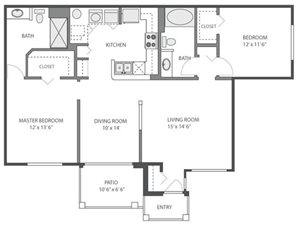 Hickory Floorplan at River Run at Naperville, 60564