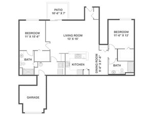 Oak Floorplan at River Run at Naperville, 60564
