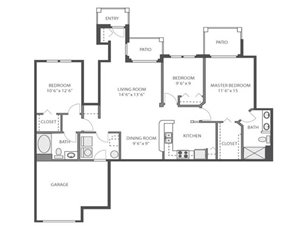 Hawthorne Floorplan at River Run at Naperville, 60564