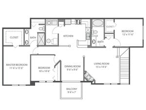 Jasmine Floorplan at River Run at Naperville, 60564