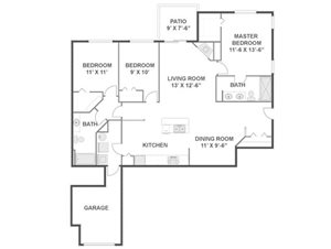 Willow Floorplan at River Run at Naperville, 60564