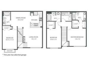 Acacia Floorplan at River Run at Naperville, 60564