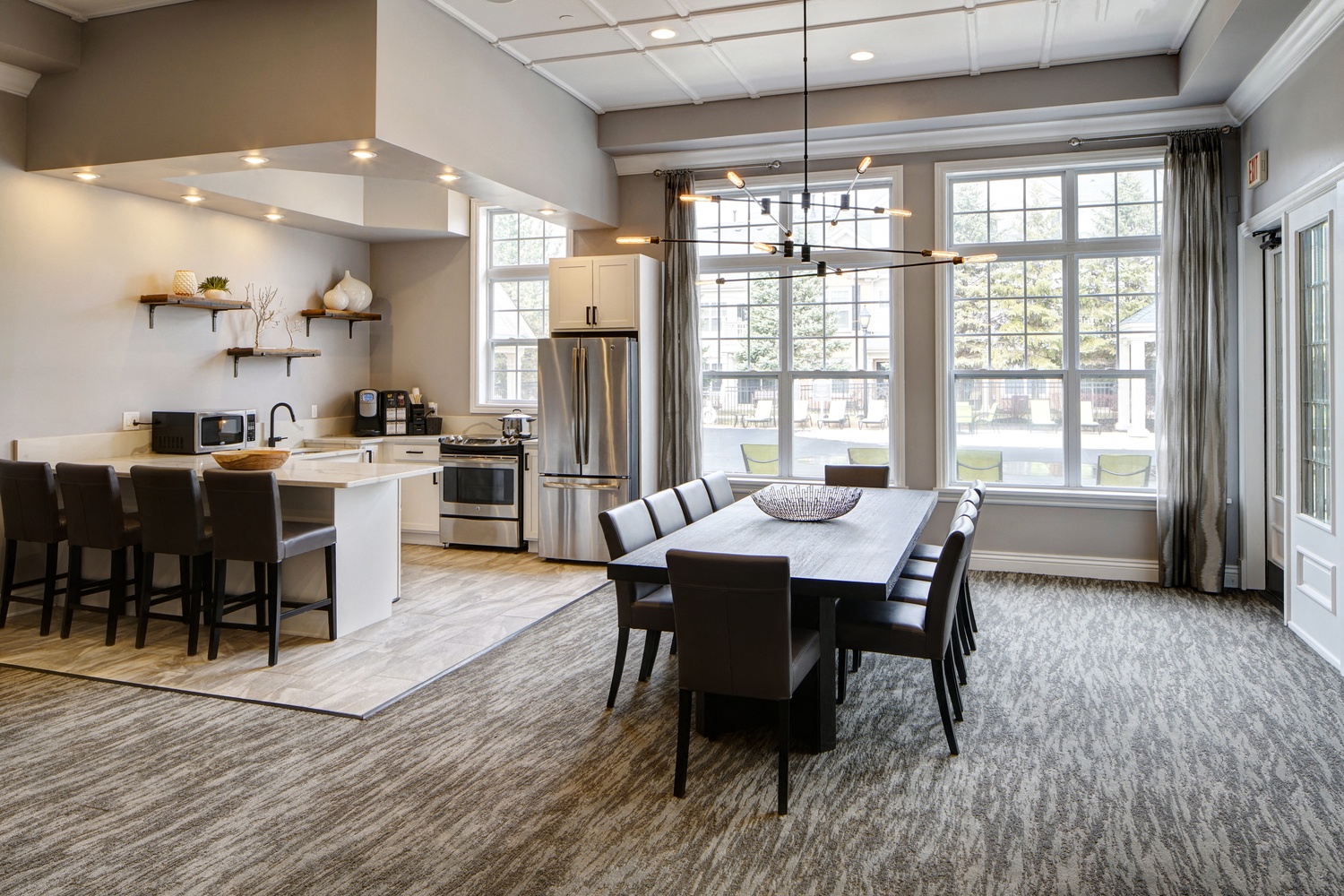 Gourmet Kitchen with Coffee Bar at River Run at Naperville Apartments, Illinois, 60564