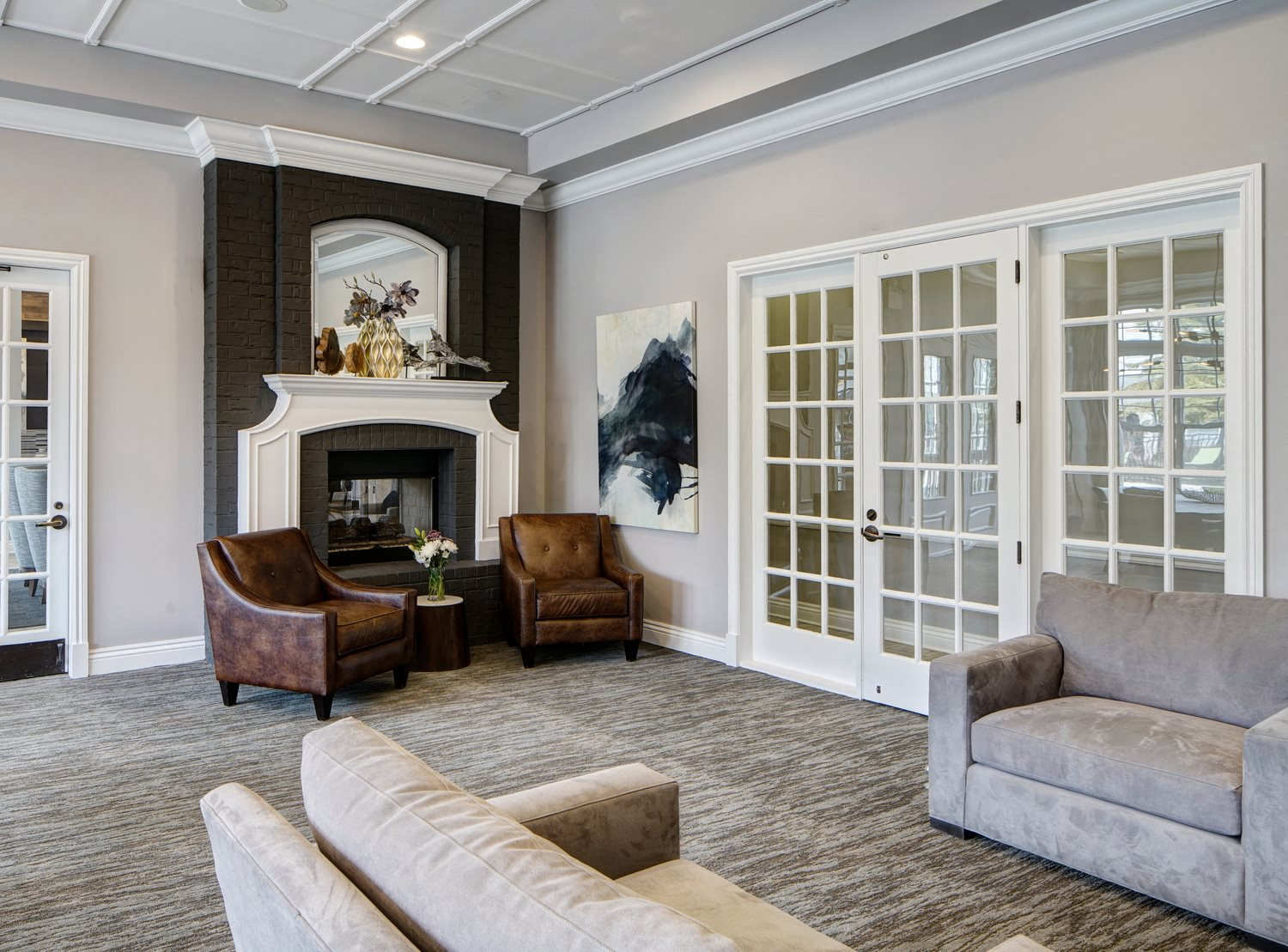 Beautifully Remolded Clubhouse with Fireplace at River Run at Naperville Apartments, Naperville, IL 60564