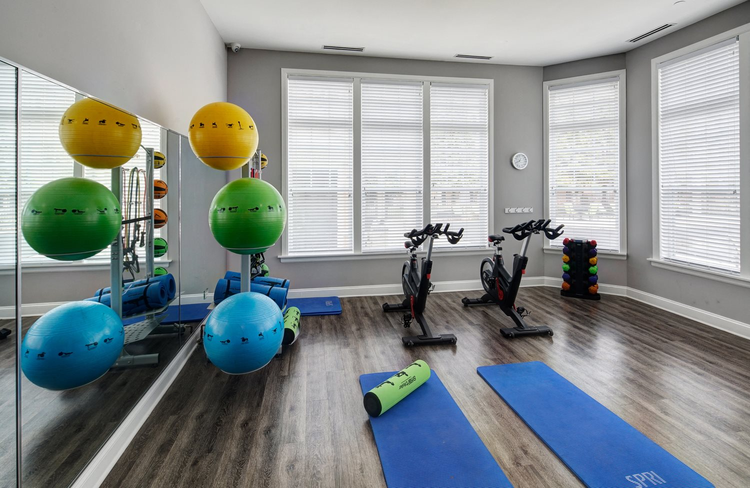 Fitness Center with Separate Spin Room at River Run at Naperville Apartments, Naperville