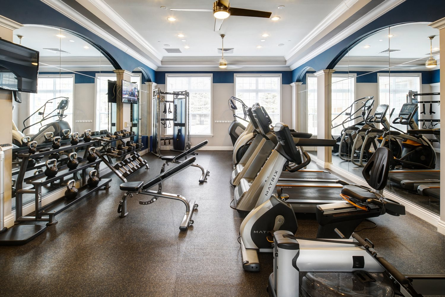 High-Tech Fitness Center at River Run at Naperville Apartments, Naperville, Illinois