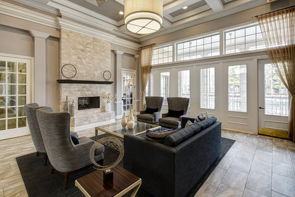 Modern Clubhouse With Expansive Great Room at River Run at Naperville Apartments, Naperville, IL