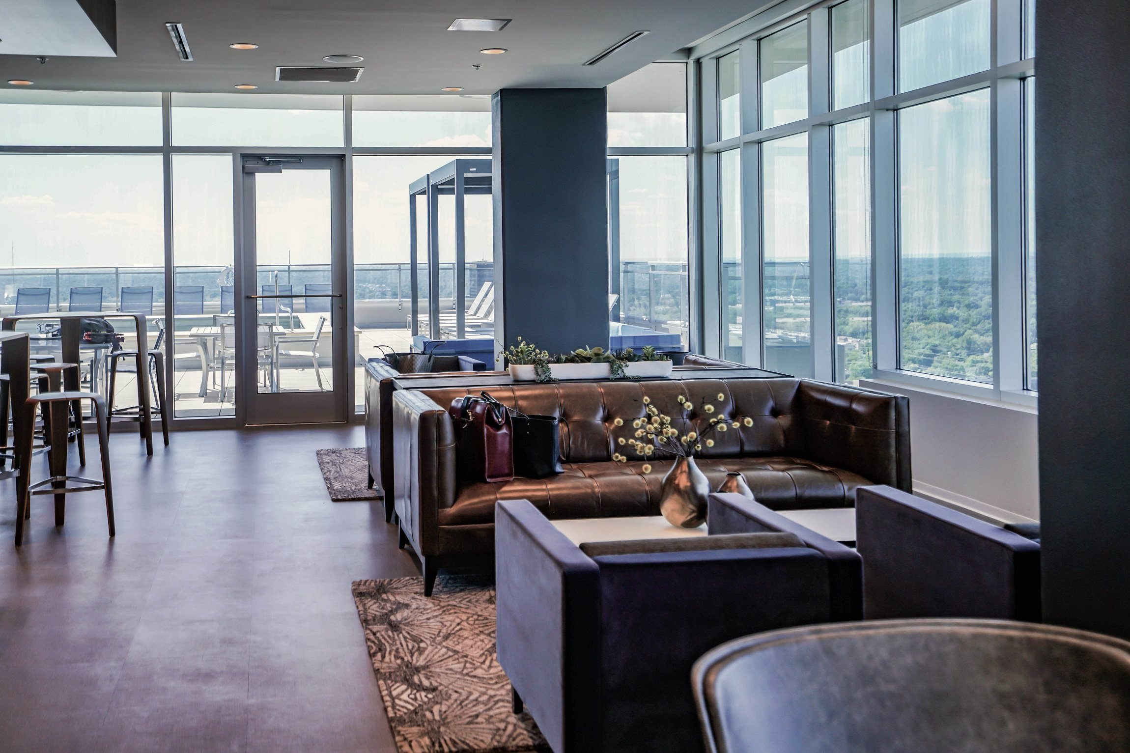 Our Rooftop Amenity Level Allows you to Work and Play at Home