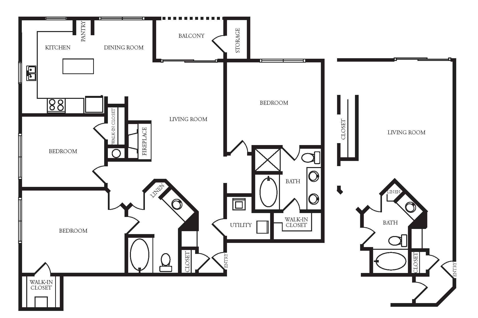 Providence In The Park Apartment Homes - 3 Bedroom 2 Bath Apartment