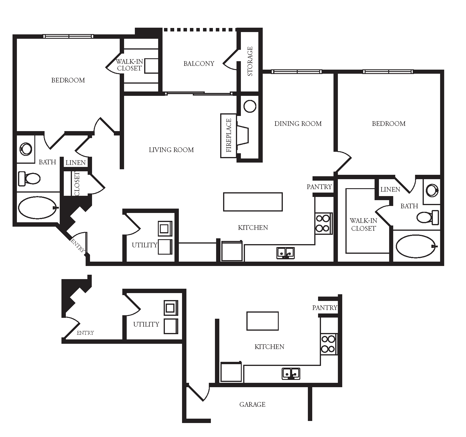 Providence In The Park Apartment Homes - 2 Bedroom 2 Bath Apartment