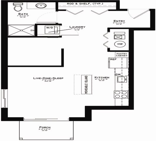 Corby - 581 sq ft