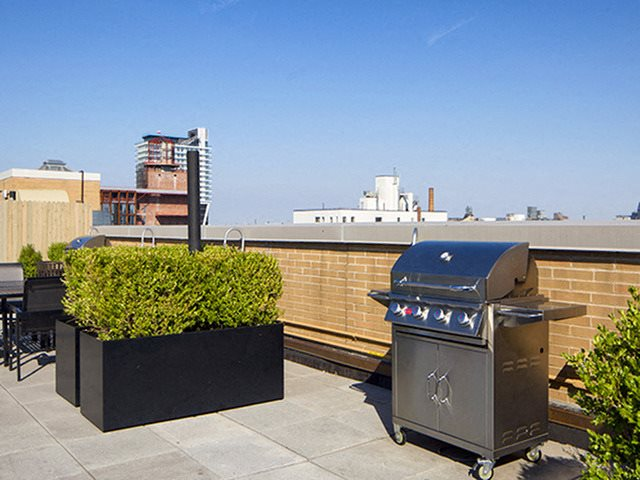 Outdoor BBQ Grills at 111 Kent, Brooklyn, 11249