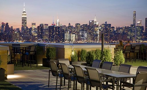 Beautiful sitting arrangement on terrace at 111 Kent Apartment Homes, 111 Kent Ave
