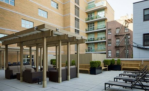 Outside sitting arrangement at 111 Kent Apartment Homes, Brooklyn, NY