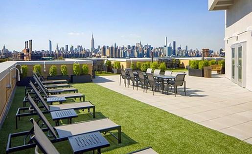 Outdoor Cabanas at 111 Kent Apartment Homes, Brooklyn, 11249