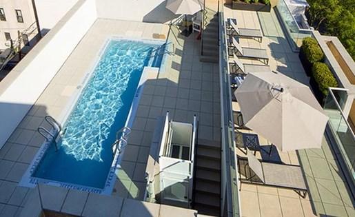 Resort class heated swimming pool at 111 Kent Apartment Homes, NY, 11249