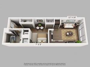Journey Floorplan at  ALARA Union Station Apartment Homes, Denver, 80202