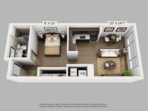 Trek Floorplan at ALARA Union Station Apartment Homes, California, 80202