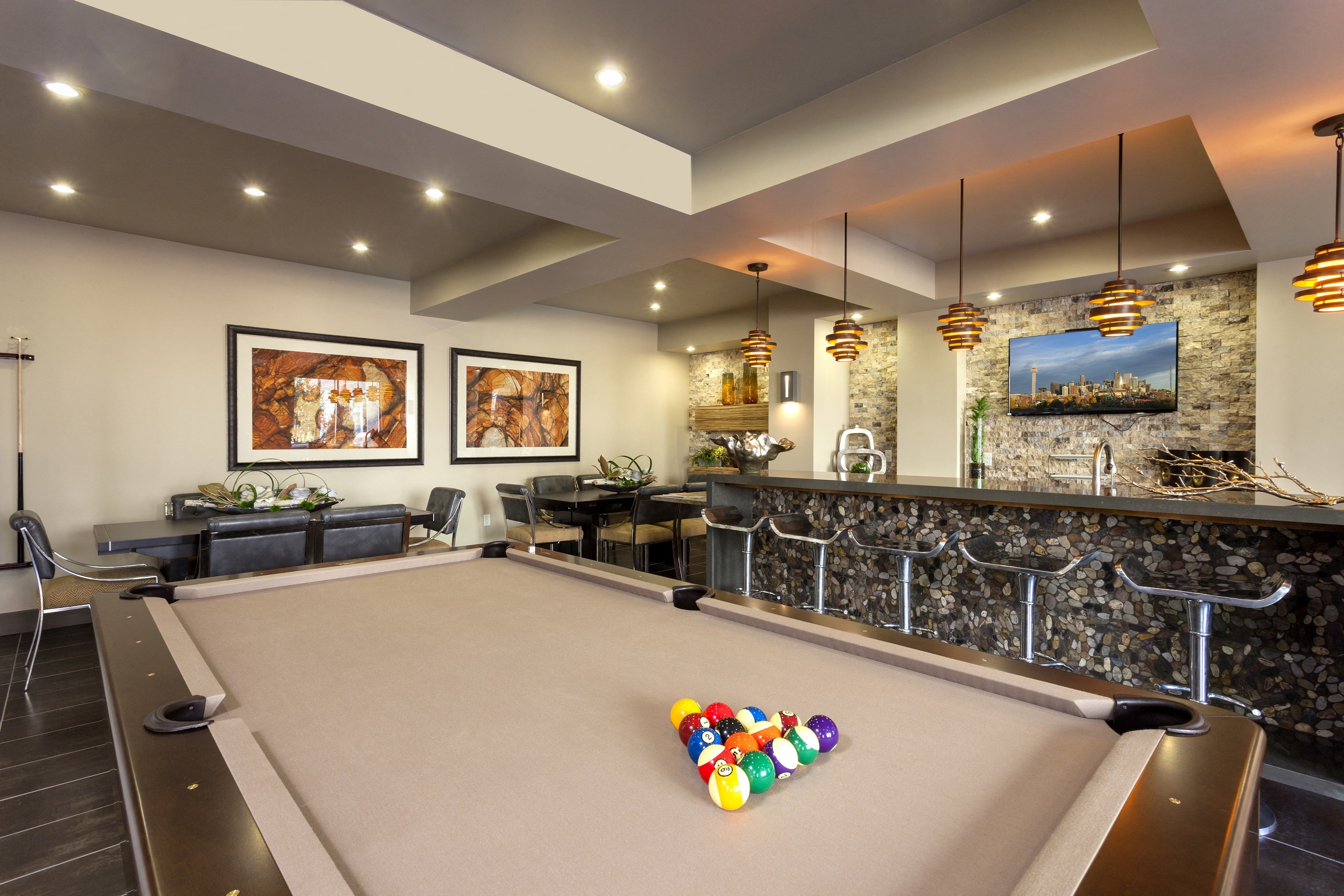 Pool Game area at ALARA Union Station Apartment Homes, California, 80202
