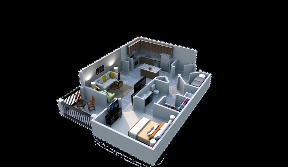 Ariel Apartment Homes Lake Nona, Orlando FL 32827 One Bedroom One Bath Balcony y