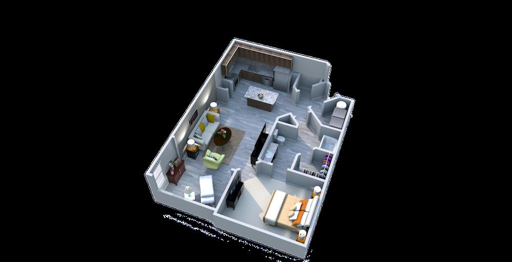 Ariel Apartment Homes Lake Nona, Orlando FL 32827 One Bedroom One Bath Solarium