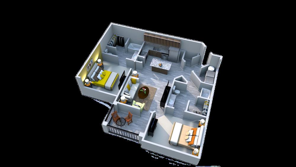 Ariel Apartment Homes Lake Nona, Orlando FL 32827 Two Bedroom One Bath