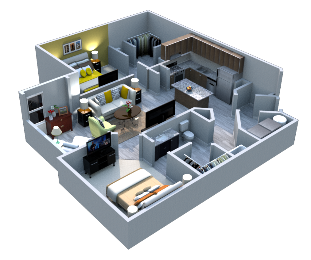 Ariel Apartment Homes Lake Nona, Orlando FL 32827 Two Bedroom One Bath Solarium
