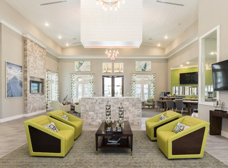 Ariel Apartments in Lake Nona, Orlando, FL 32827 resident clubhouse interior
