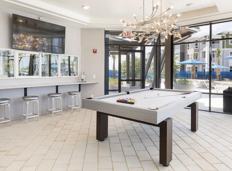 Ariel Apartments in Lake Nona, Orlando, FL 32827 resident entertainment lounge