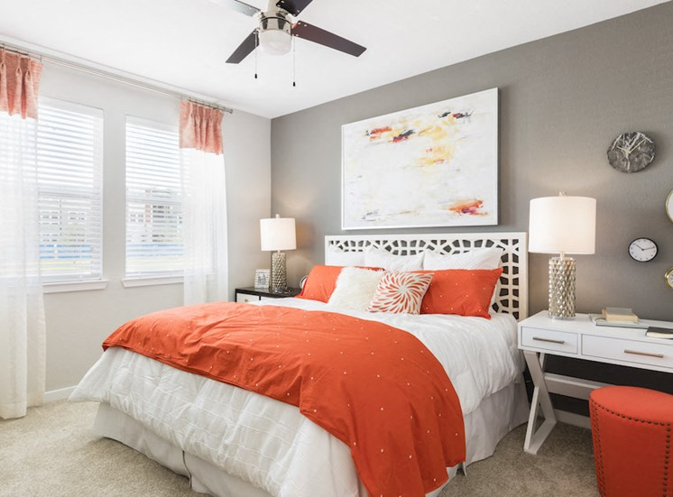 Ariel Apartments in Lake Nona, Orlando, FL 32827 Spacious master bedroom with ceiling fan