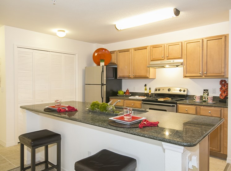 Westwood Park Apartments for rent in Orlando, FL. Make this community your new home or visit other Concord Rents communities at ConcordRents.com. Kitchen