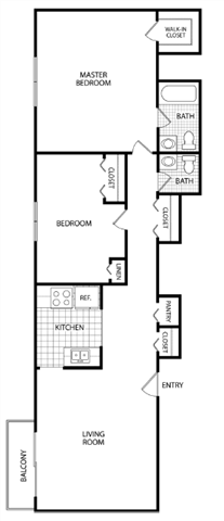 2 Bed 2 Bath-Aristocrat Apartments