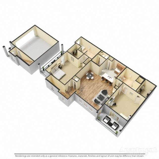 Double Master Floor Plan 3