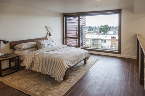 Spacious Bedrooms at Ballard Lofts, 6450 24th Avenue, NW Seattle, WA