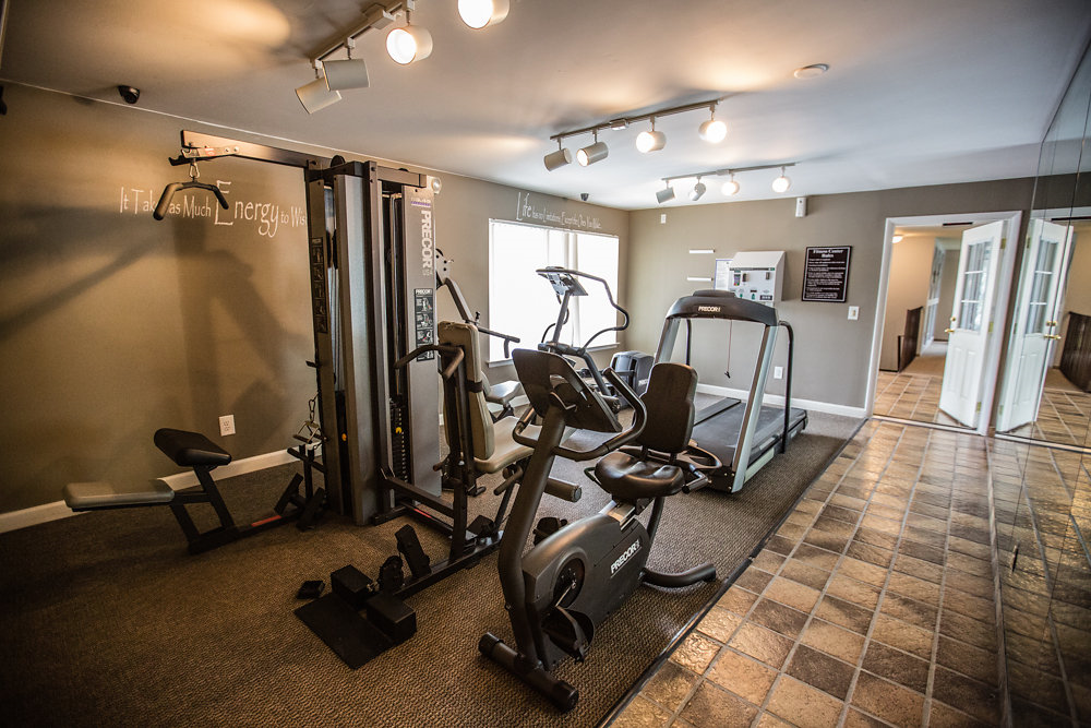 State-of-the-art Fitness Center at Drawbridge Apartments East at Harrison Township, MI 48045