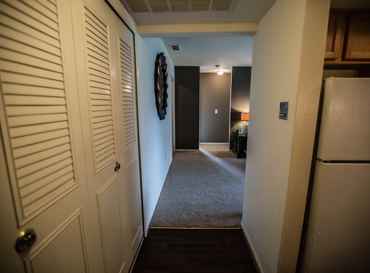 Hallway at Drawbridge Apartments East, Michigan