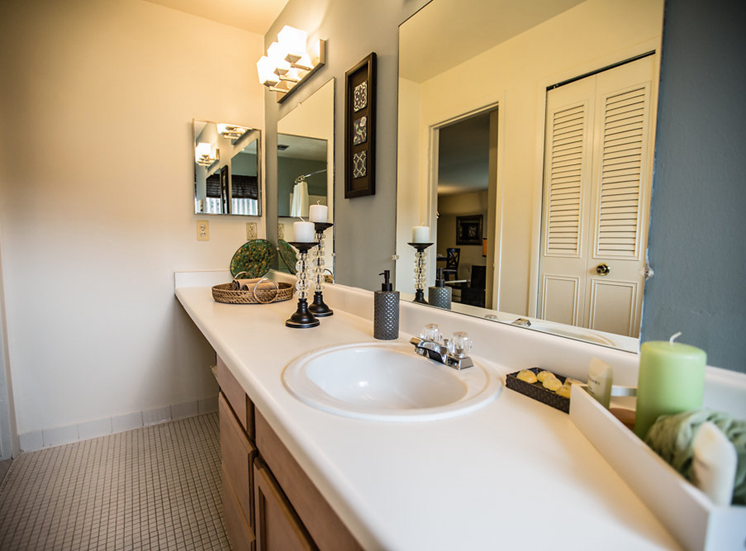 Spacious Bathroom at Drawbridge Apartments East at Harrison Township, MI 48045