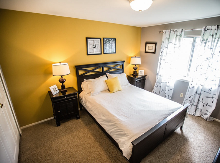 Relaxing Bedroom at Drawbridge Apartments East at Harrison Township, MI 48045